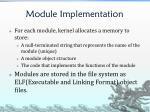 module implementation