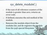 sys delete module3