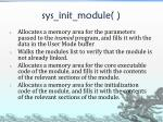 sys init module1