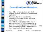 current solutions limitations