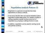 negotiation analysis pattern 1