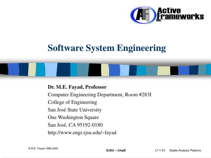 software system engineering n.