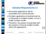 solution requirements 1