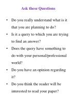 ask these questions