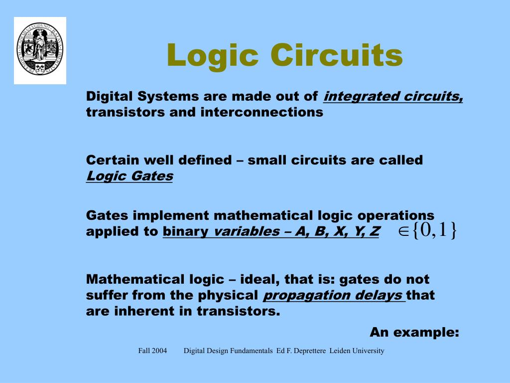 Ppt Logic Circuits Powerpoint Presentation Id5625721 Circuit Example N