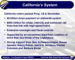 california s system