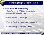 funding high speed trains
