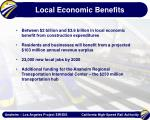 local economic benefits