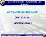 more information anaheim to los angeles