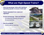 what are high speed trains
