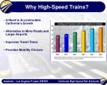 why high speed trains