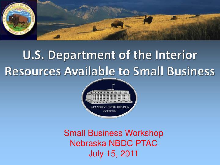 u s department of the interior resources available to small business n.