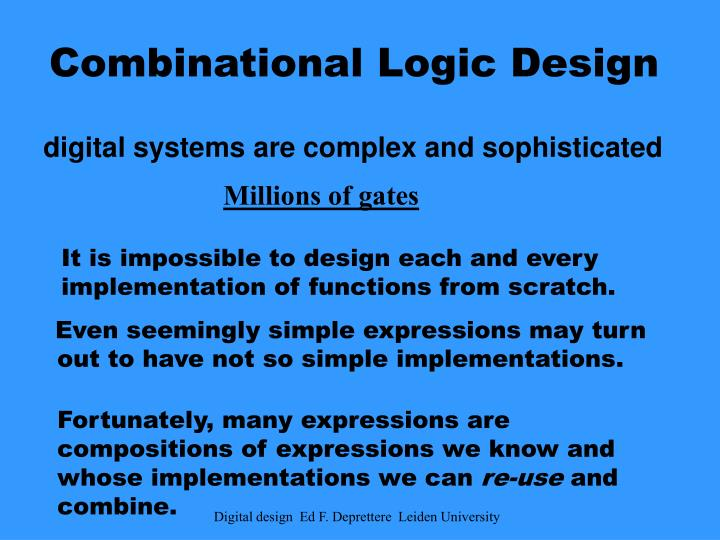 combinational logic design n.
