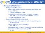 vo support activity for cms ddt