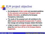 elm project objective