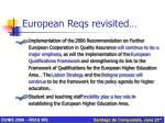 european reqs revisited