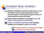 european reqs revisited1