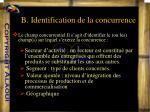 b identification de la concurrence