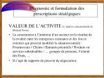 diagnostic et formulation des prescriptions strat giques1