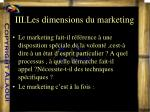 iii les dimensions du marketing