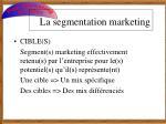la segmentation marketing1