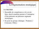 la segmentation strat gique1