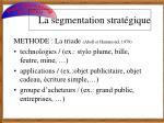 la segmentation strat gique5