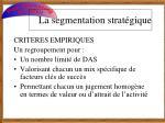 la segmentation strat gique6