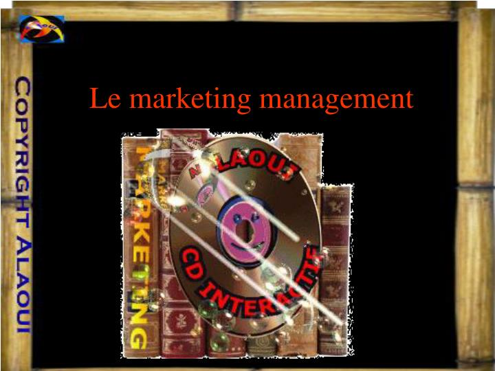 le marketing management n.