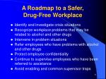 a roadmap to a safer drug free workplace