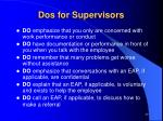 dos for supervisors