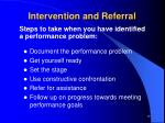intervention and referral