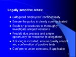 legally sensitive areas