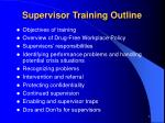 supervisor training outline