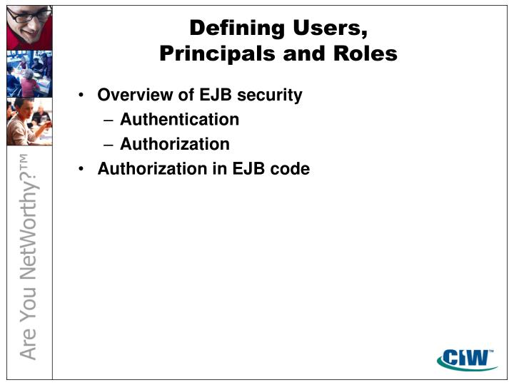 Defining Users,