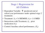 stage 1 regression for all children