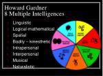 howard gardner 8 multiple intelligences
