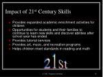 impact of 21 st century skills