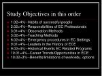 study objectives in this order2