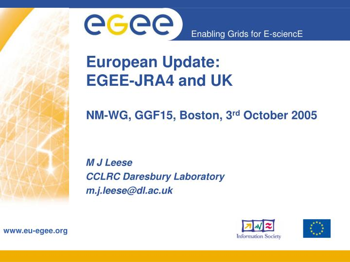 european update egee jra4 and uk n.