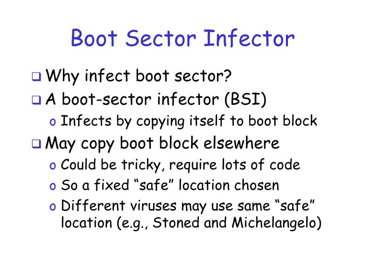 Boot Sector Infector