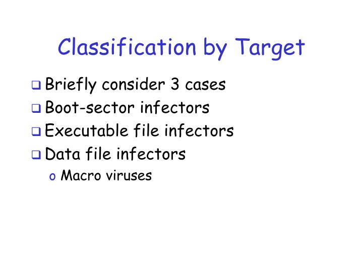 Classification by Target