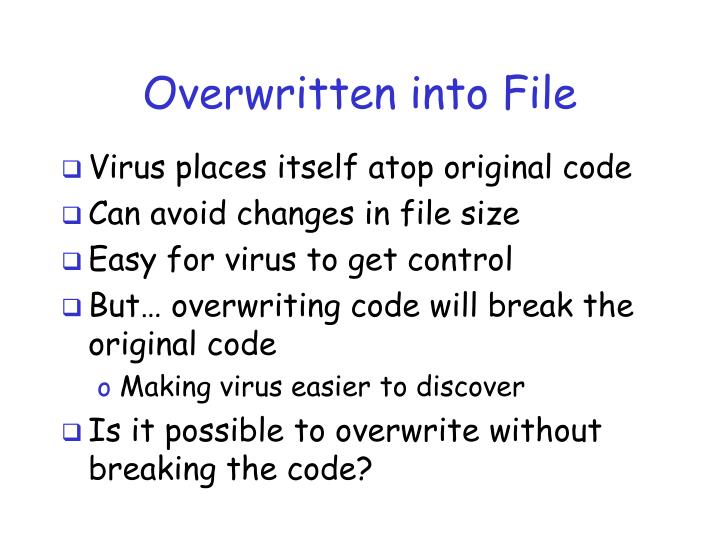 Overwritten into File