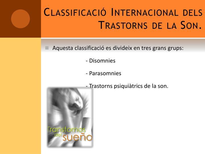 Classificaci internacional dels trastorns de la son