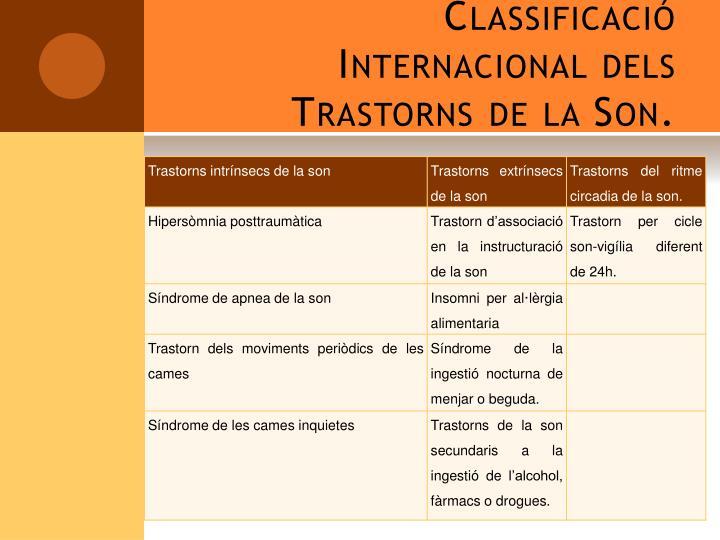 Classificació Internacional dels Trastorns de la Son.