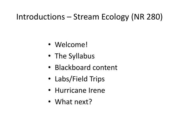 introductions stream ecology nr 280 n.