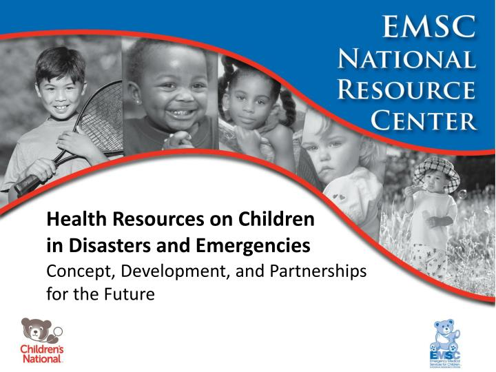 health resources on children in disasters and emergencies n.
