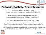 partnering to better share resources