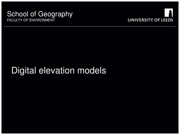 digital elevation models n.