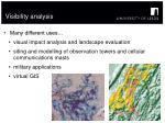 visibility analysis1
